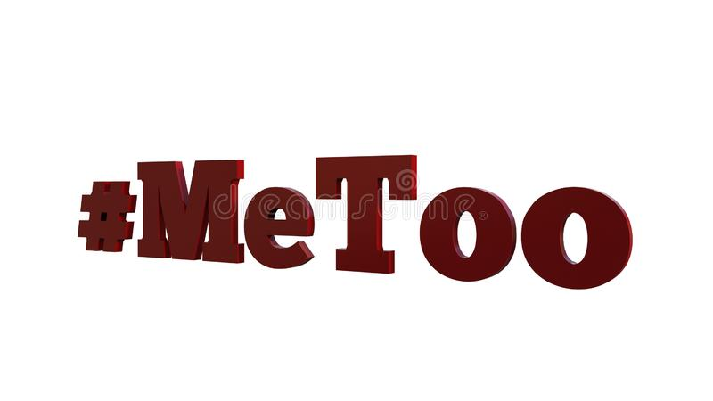MeToo 3D Text Slogan. Metoo / Me Too Movement Slogan rendered as 3D Text. Png version also uploaded vector illustration