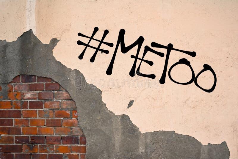 MeToo/mig för grafitti royaltyfri fotografi