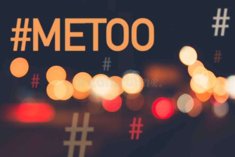 MeToo/mig Hashtag för royaltyfri fotografi