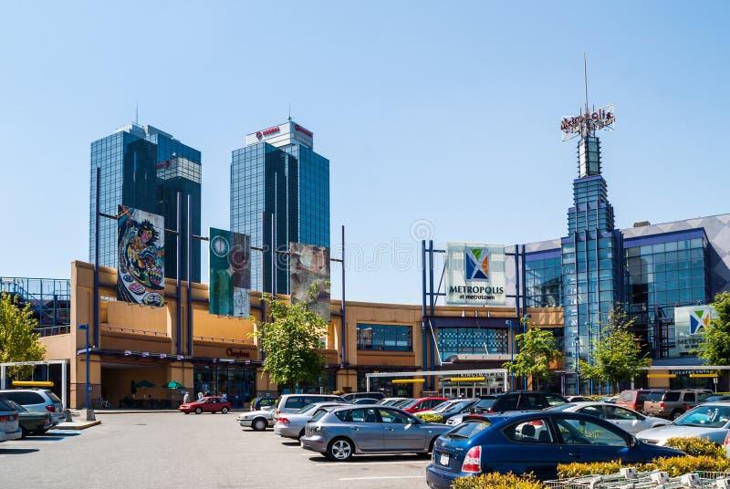 Metrópole em Metrotown, Vancôver, BC imagens de stock