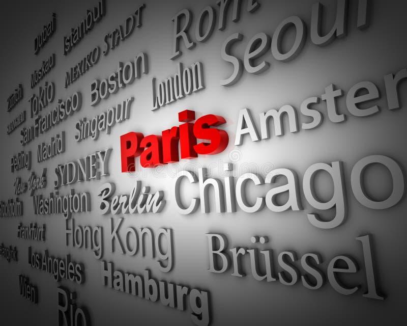Metrópoli París stock de ilustración