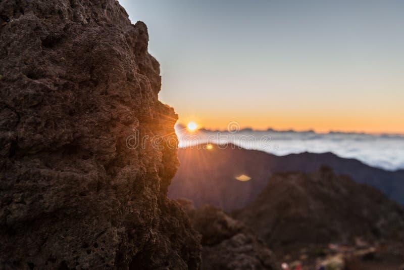 1257 metrów wzrostu górę góry Poland skrzyczne świetle wschodu słońca fotografia stock