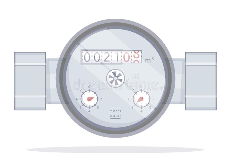 metr spływowa pomiarowa woda ilustracji