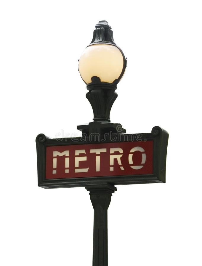 metra Paris znak zdjęcia stock
