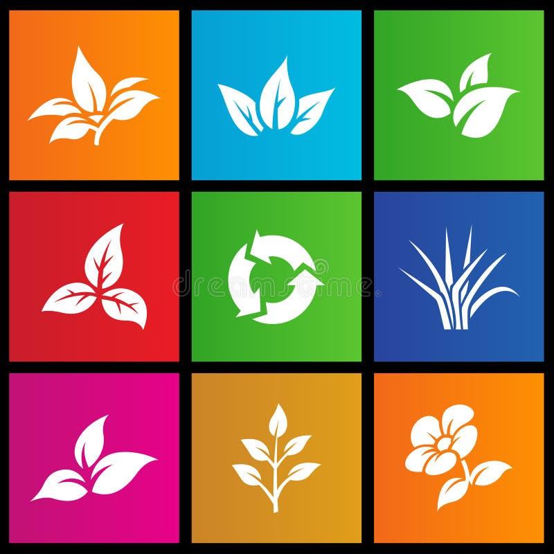 Metra stylu liść i kwiat ilustracji