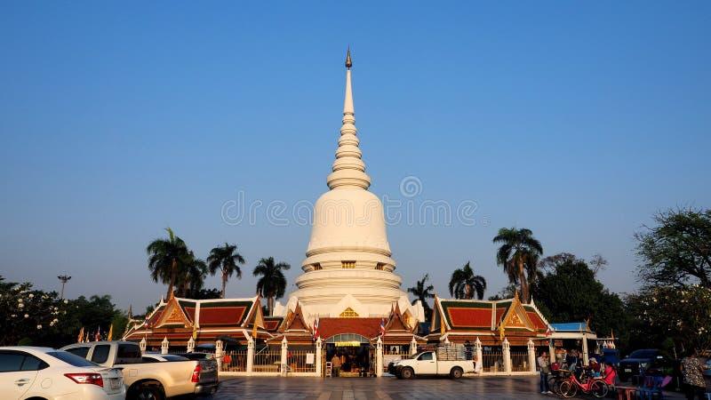 38-metre-high Phra Chedi Sri Rattana Mahathat royalty free stock images