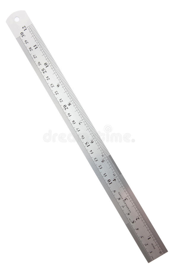 Free Metric And Inch Steel Ruler Royalty Free Stock Photography - 17011207