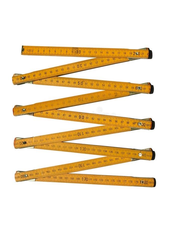Metric folding ruler stock image