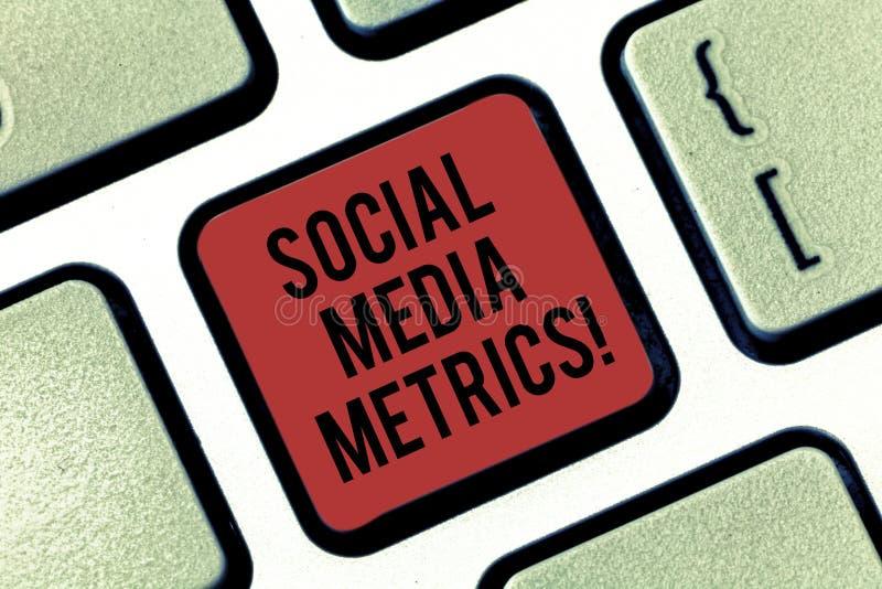 Metrik för massmedia för handskrifttext social Begreppsbetydelseriktlinjer som bestämmer hur väl det arbetande tangentbordet för  arkivbilder