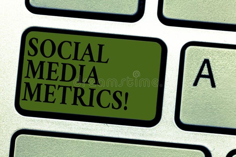 Metrik för massmedia för handskrifttext social Begreppsbetydelseriktlinjer som bestämmer hur väl det arbetande tangentbordet för  arkivbild