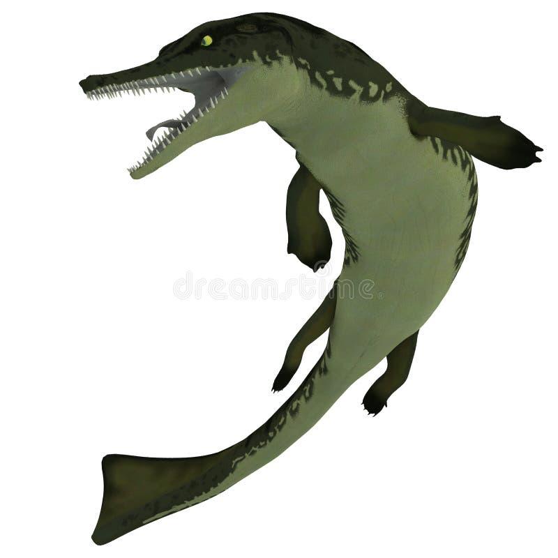 Metriorhynchus op Wit stock illustratie