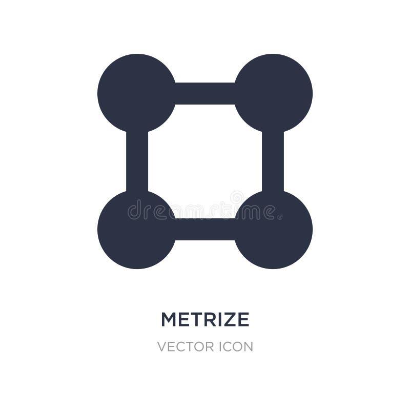 metrize el icono en el fondo blanco Ejemplo simple del elemento del concepto de UI stock de ilustración