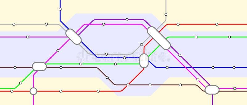 Metro ilustração royalty free