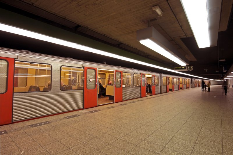 Metro in Amsterdam Netherlands stock photography