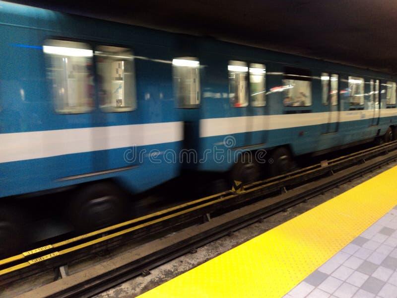 Metro apressado fotografia de stock
