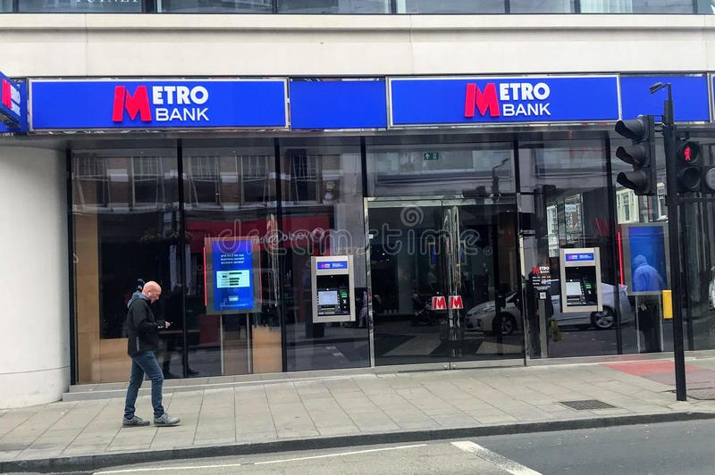 Metro Bank branch. Metro Bank plc is a retail bank operating in the United Kingdom, founded by Anthony Thomson and Vernon Hill in 2010. At its launch it was the stock image