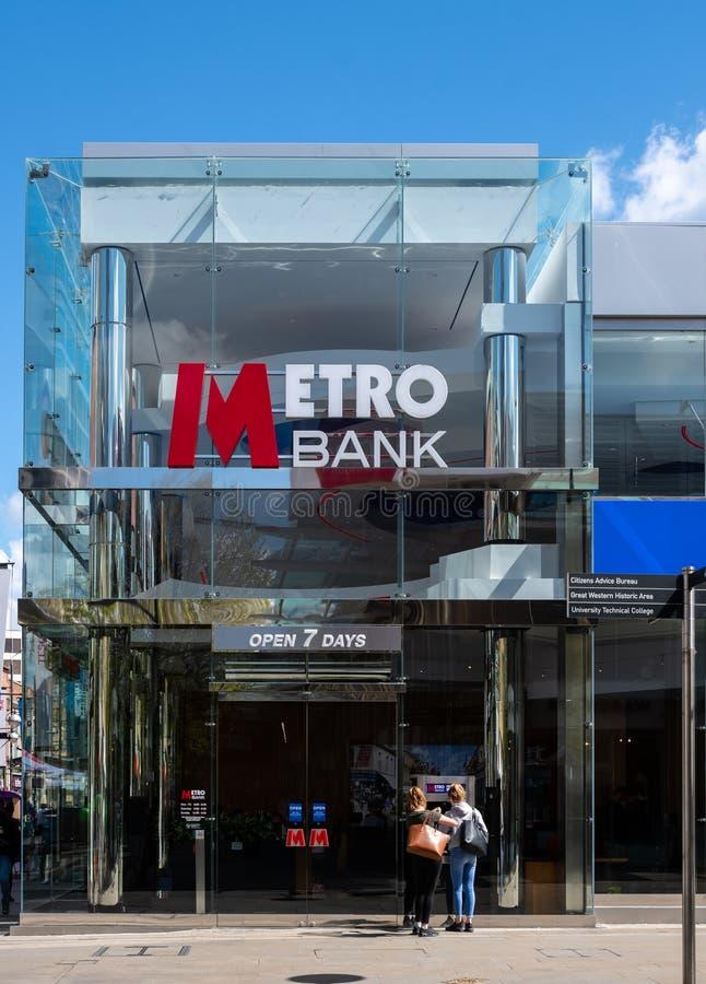 Metro bank Swindon fotografia royalty free