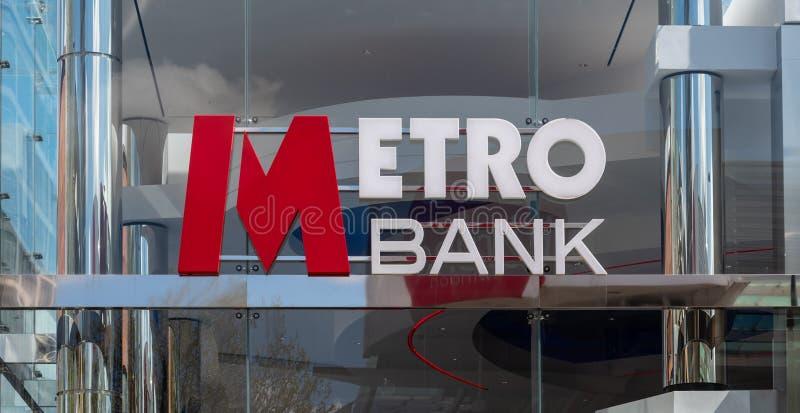 Metro bank Swindon obraz stock