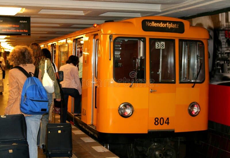Metro in Berlijn stock afbeelding