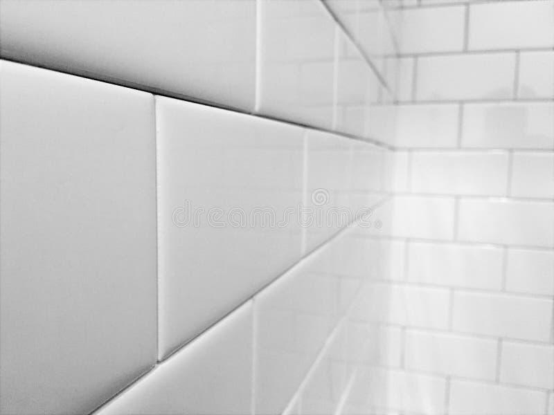 Metro bielu płytka zdjęcie stock