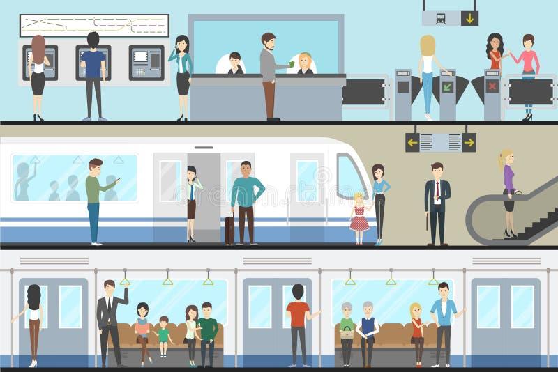 Metro binnenlandse reeks vector illustratie