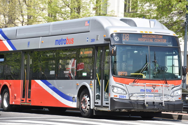 Metro-Bus in Washington, DC stockfotografie