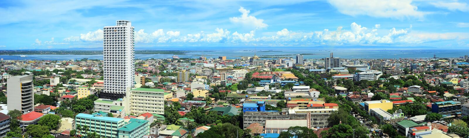 Metro Cebu. Panorama of Cebu city. Cebu is the Philippines second most significant metropolitan centre and main domestic shipping port stock image