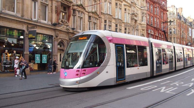 Metro da região central em Birmingham, Inglaterra foto de stock