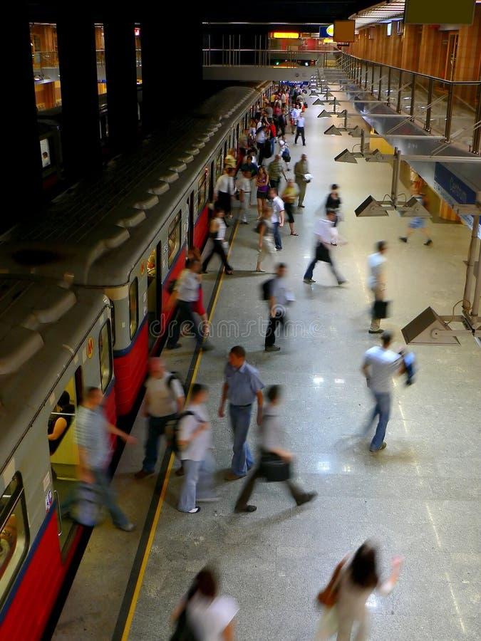 Metro das horas de ponta foto de stock