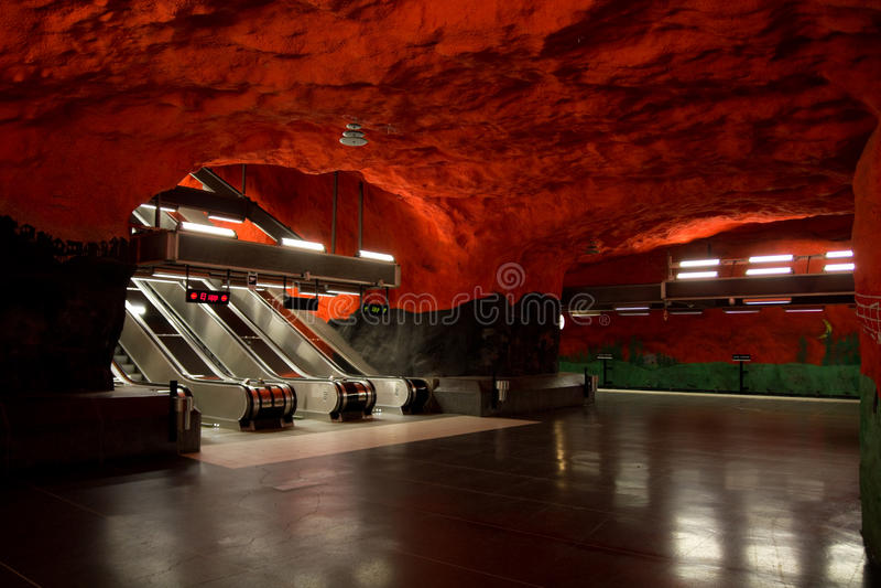 Metro de Éstocolmo foto de stock