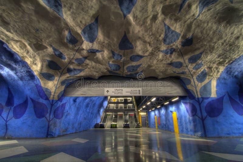 Metro de Éstocolmo imagem de stock
