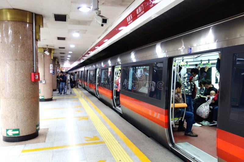 Metro de Beijing fotografia de stock royalty free