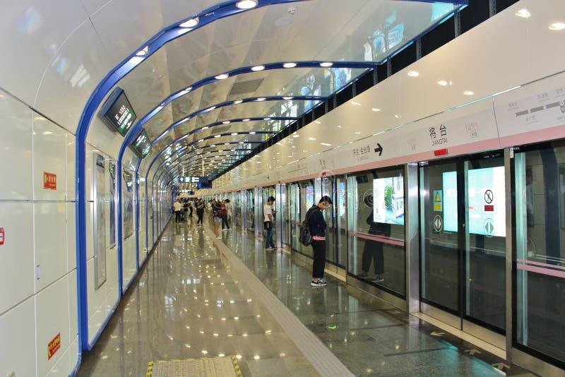 Metro de Beijing imagens de stock