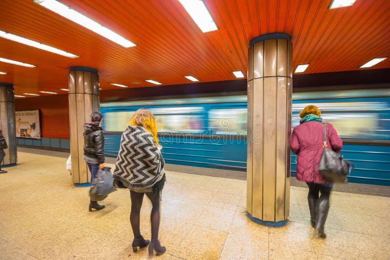 Metro de Budapest imagem de stock