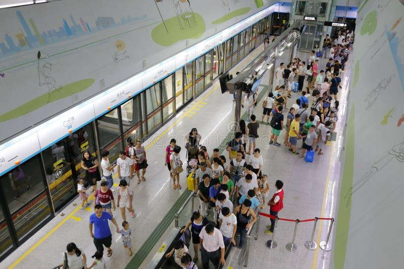Metro de desatención de Guangzhou fotos de archivo