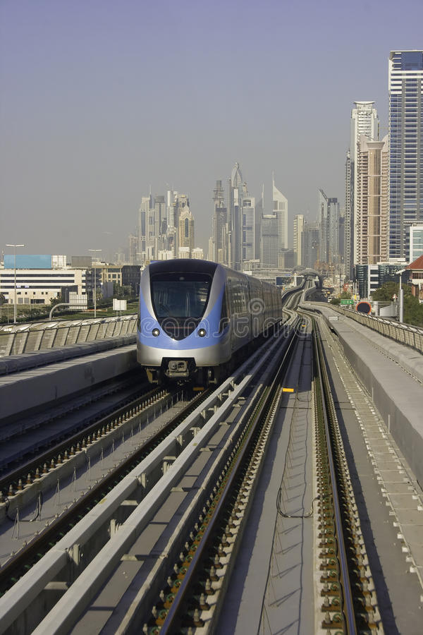 Metro de Dubai fotos de archivo