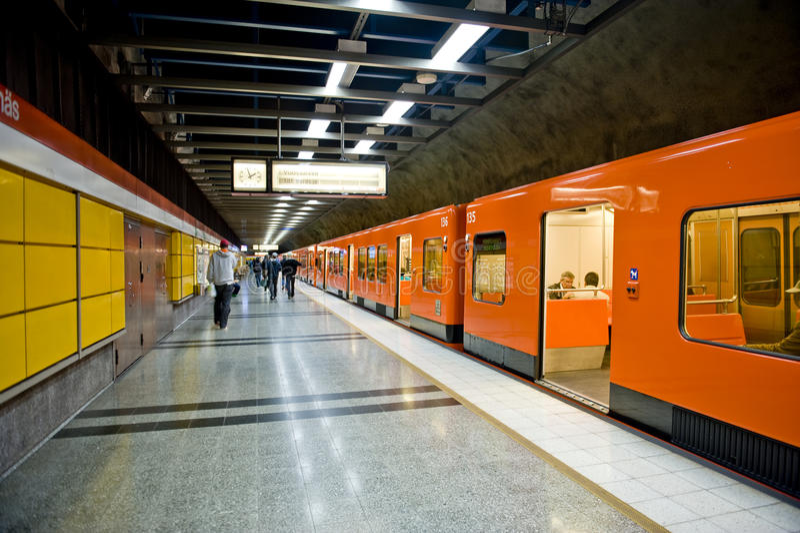 Metro de Helsínquia fotografia de stock