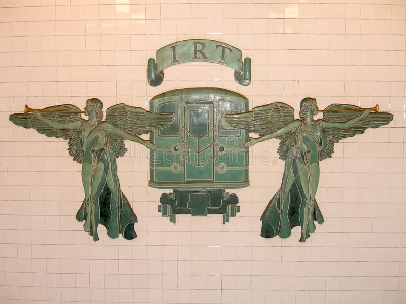 Metro de IRT New York City fotografia de stock