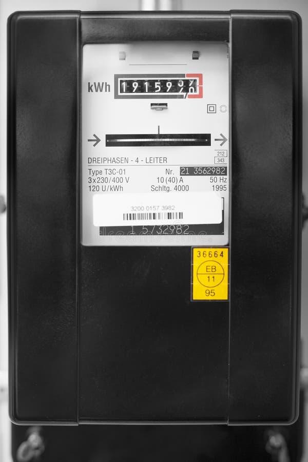 Metro de la electricidad fotos de archivo libres de regalías