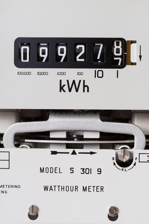 Metro de la electricidad foto de archivo