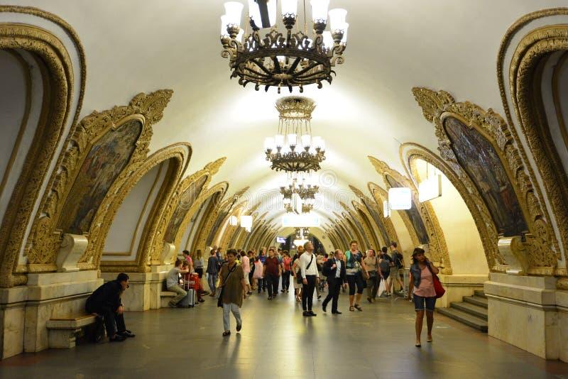 Metro de Moscou fotografia de stock
