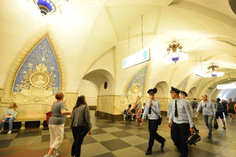 Metro de Moscou foto de stock