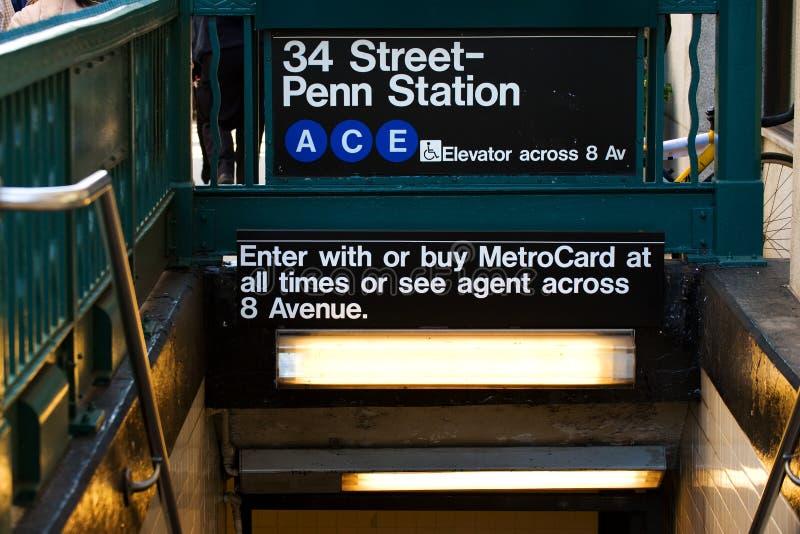Metro de New York imagens de stock
