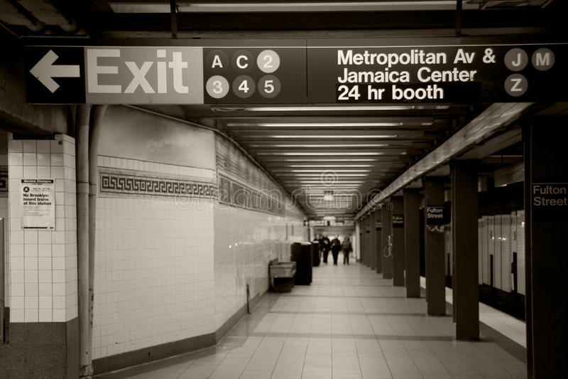 Metro de New York foto de stock