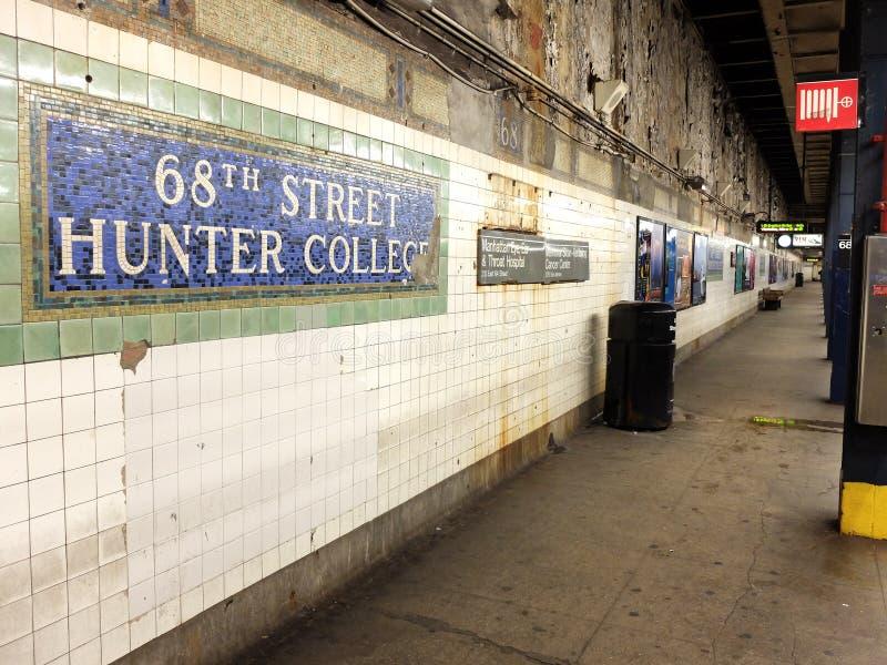 Metro de New York City foto de stock