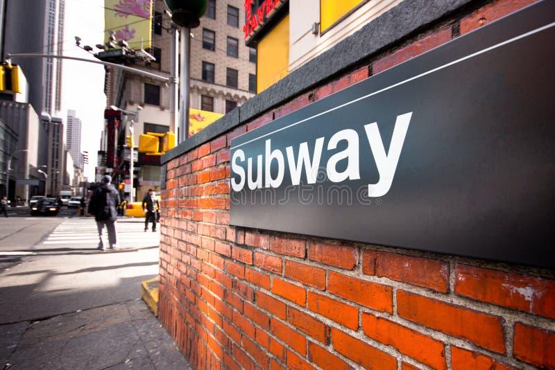 Metro de NYC imagem de stock