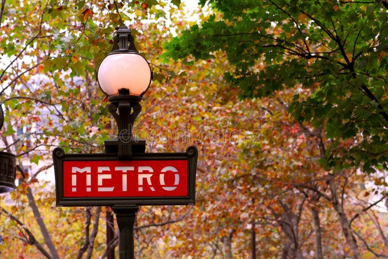 Metro de Paris foto de stock royalty free
