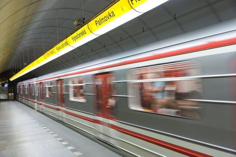 Metro de Praga fotografia de stock