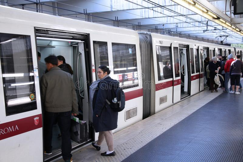 Metro de Roma imagens de stock