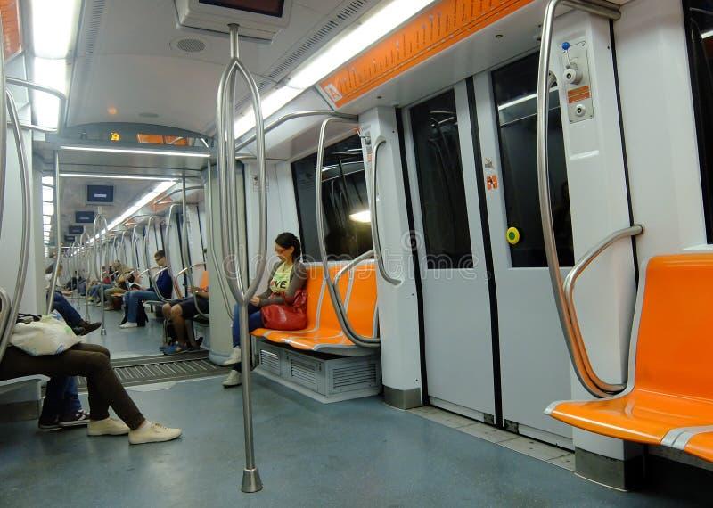 Metro de Roma, Itália foto de stock